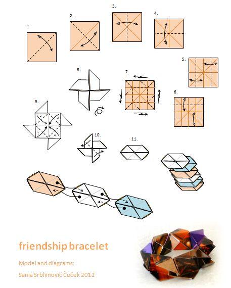 diagram origami bracelet mower ignition switch wiring art novosti narukvica prijateljstva friendship