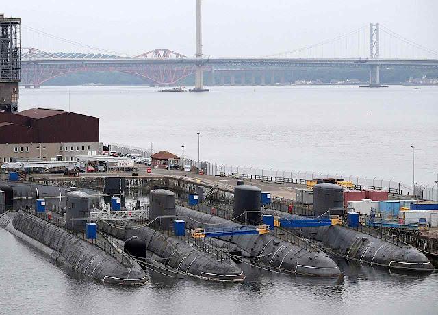 Base de submarinos nucleares de Faslane sob observação chinesa constante