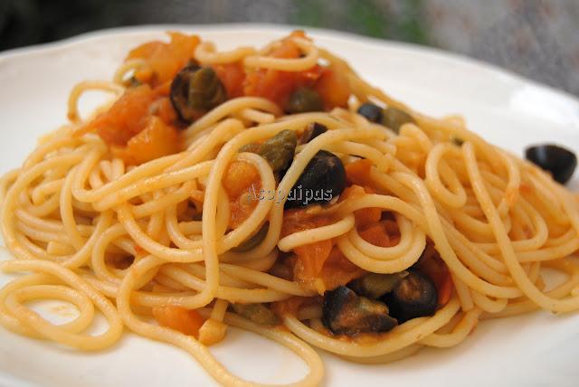 Spaguetti alla Putanesca