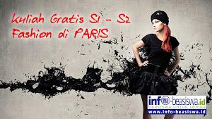 Beasiswa S1 - S2 Fashion di Paris Perancis