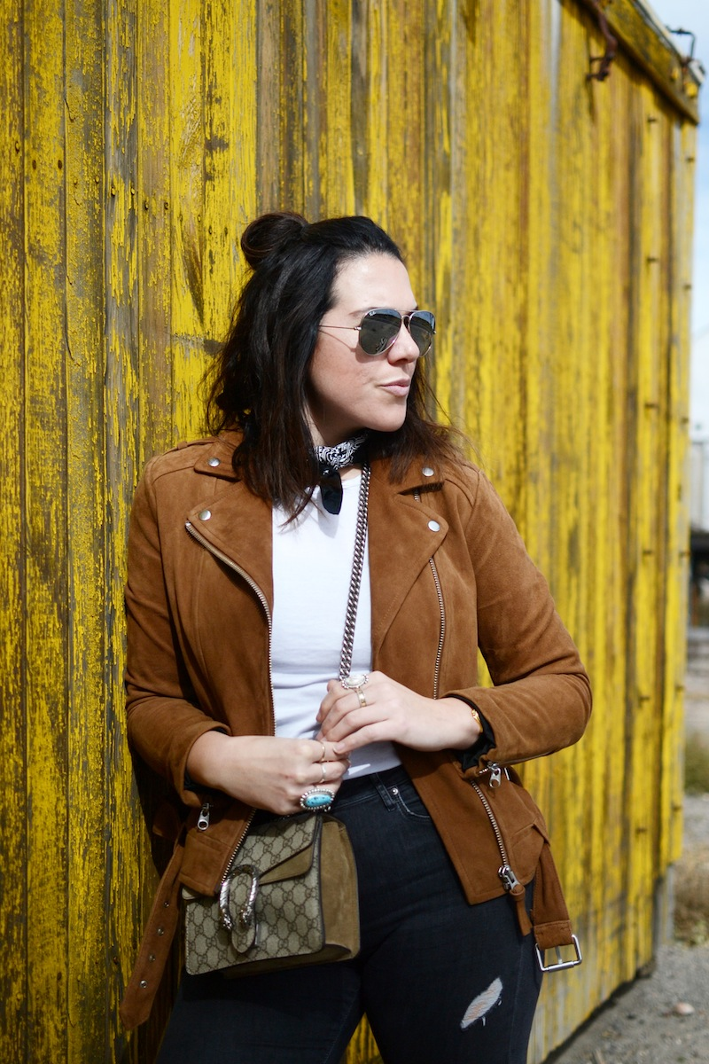 Mackage suede jacket Zara sparkle boots lamy new mexico fashion blogger southwest outfit