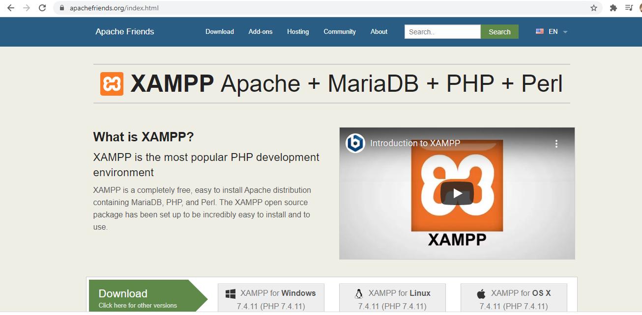 cara cara untuk install web server Xampp
