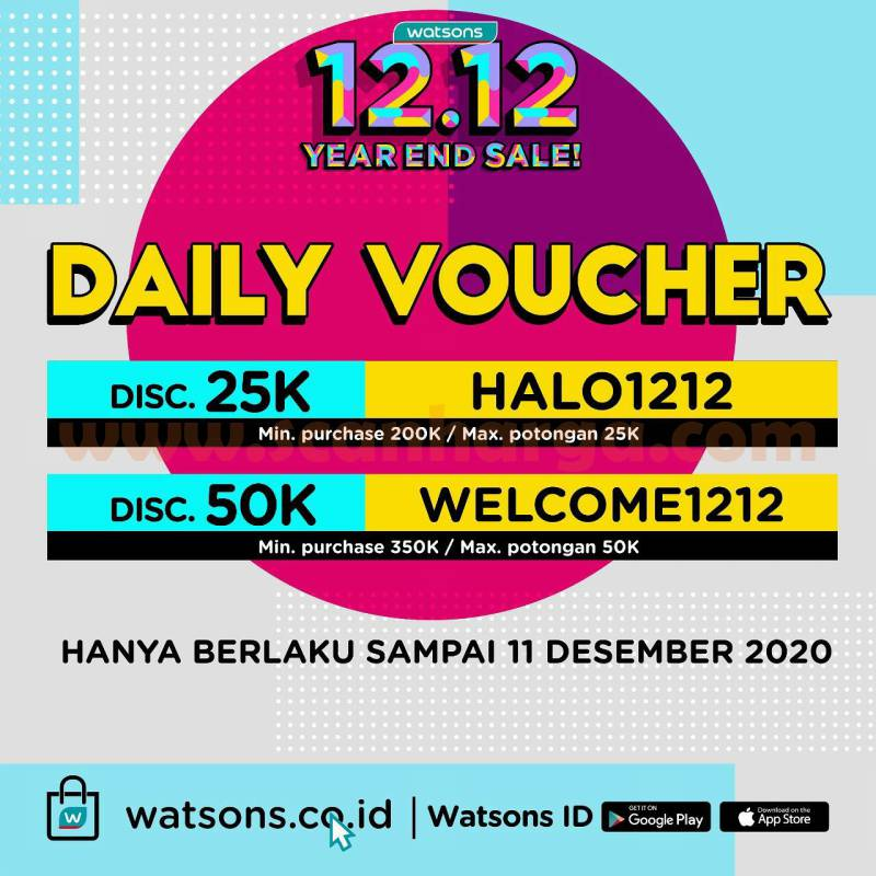 Watsons Promo 12.12 Year End Sale - Special Price 12K