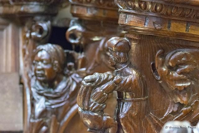 Detalle Coro Renacentista, Catedral de Santa María, Saint Bertrand de Comminges por El Guisante Verde Project