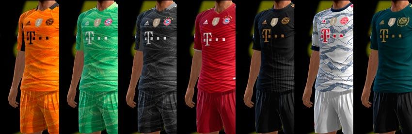 FC Bayern München 21-22 Kits For PES 2013