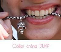 collier crâne Bracelet DUNP