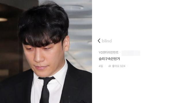 Staff YG Ungkap Kecewa Seungri Tidak Dipenjara Karena Kasusnya