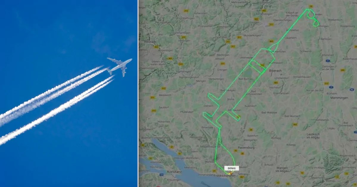 German Pilot Traces Outline Of Syringe In The Sky To Combat Anti-Vaccine Propaganda