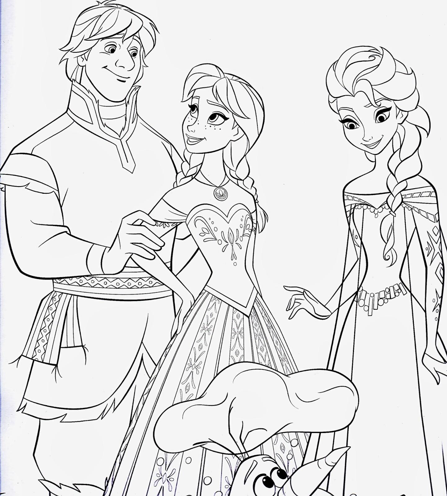 "Disney Movie Princesses: ""Frozen"" Printable Coloring Pages"