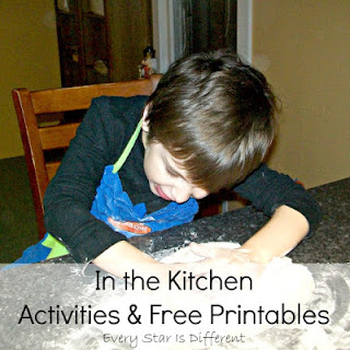 In the kitchen learning activities and free printables for kids