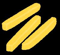 じゃがいもの切り方のイラスト(黄色・拍子切り)