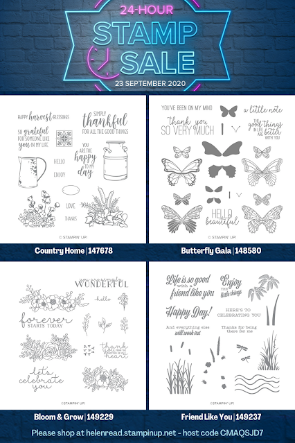 Stampin Up stamp sale flash 24-hour
