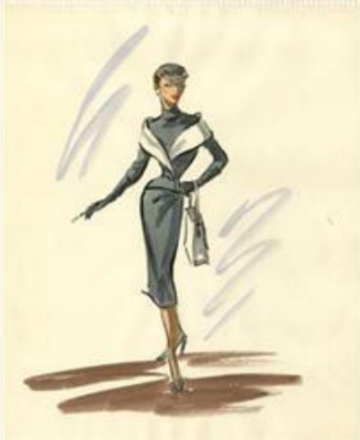 Edith Head Award Winning Costume for Audrey Hepburn 1954's Sabrina