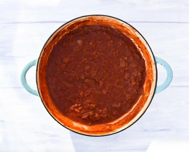 How to make marinara sauce -step 5 - cooked sauce