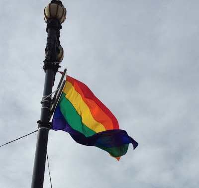 LGBT Pride rainbow flag in San Francisco