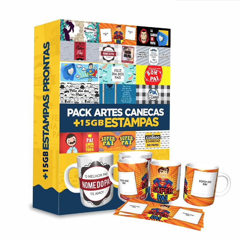 Pack Estampas de Canecas Download Grátis