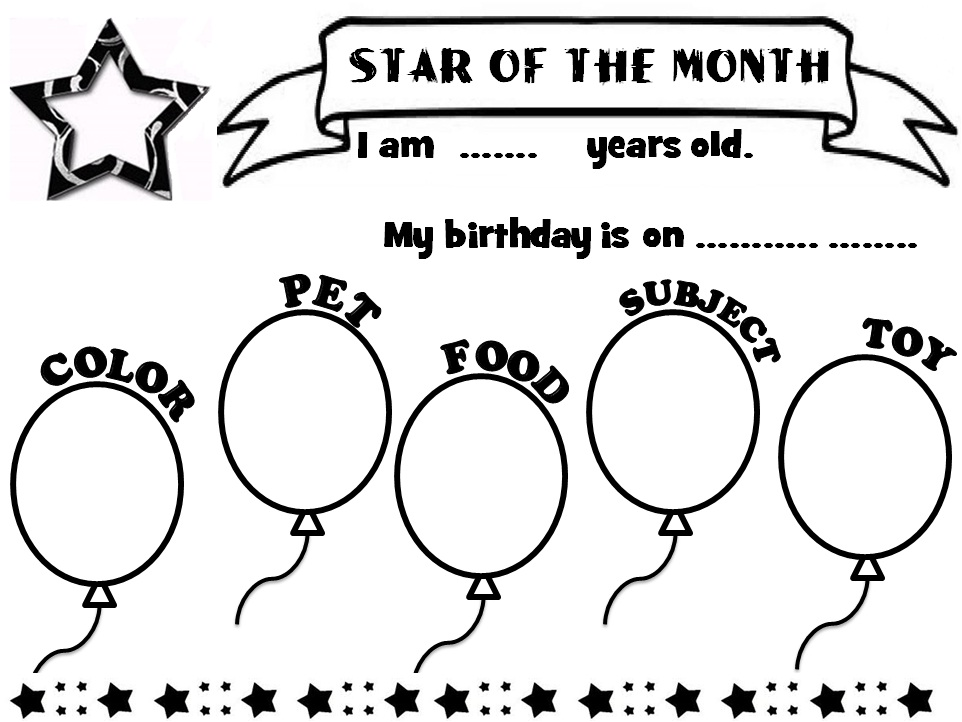 Enjoy Teaching English: STAR OF THE MONTH (poster)
