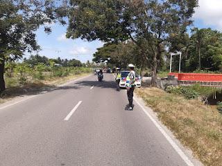 Sat Lantas Polres Pinrang Intens Melaksanakan Patroli Daerah rawan Laka Lantas