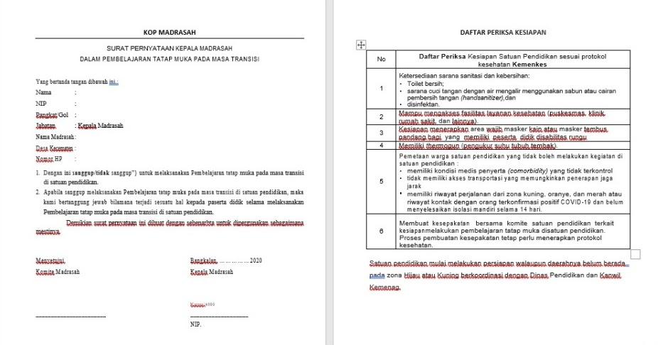 Download contoh surat pernyataan orang tua untuk belajar ...