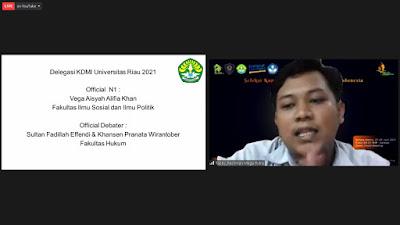 Universitas Riau Akan Bertanding Diajang KDMI Tingkat Regional Yang Akan Diwakili Oleh Sultan Fadilah, Khansen dan Vega Aisyah