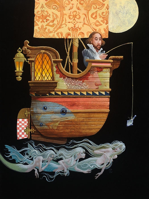 06-Fishing-for-Mermaids-James-C-Christensen-Original-Paintings-Steeped-in-Surrealism-www-designstack-co