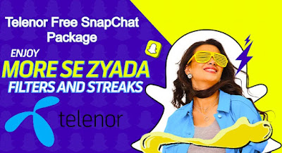 Telenor SnapChat Free Package Monthly Subscription Code