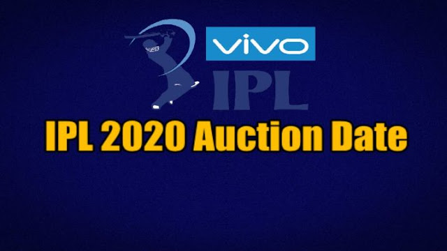IPL 2020 Auction Date Time