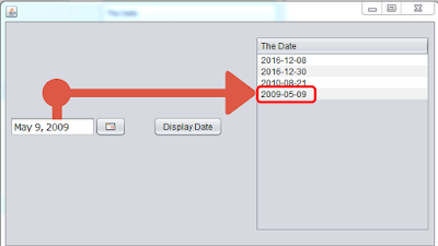 Show Date In JTable From JDateChooser In Java