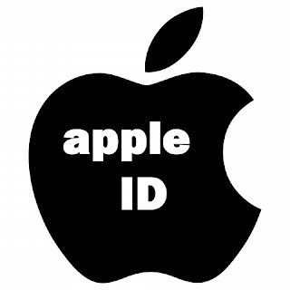 logo apple id hitam black