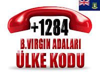 +1 284 Britanya Virjin Adaları ülke telefon kodu