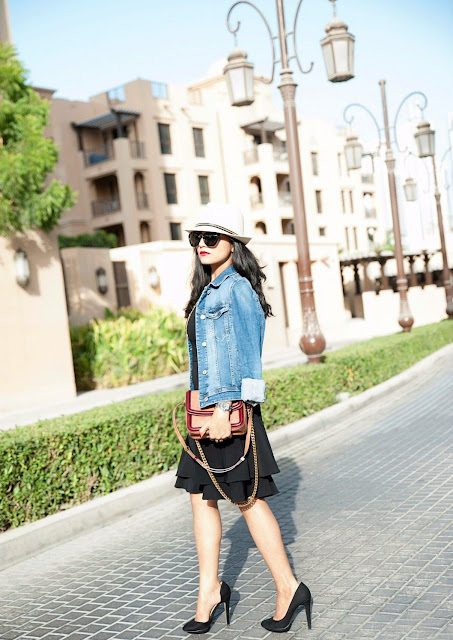 Stylish Ways To Wear A Denim Jacket: Downtown Dubai