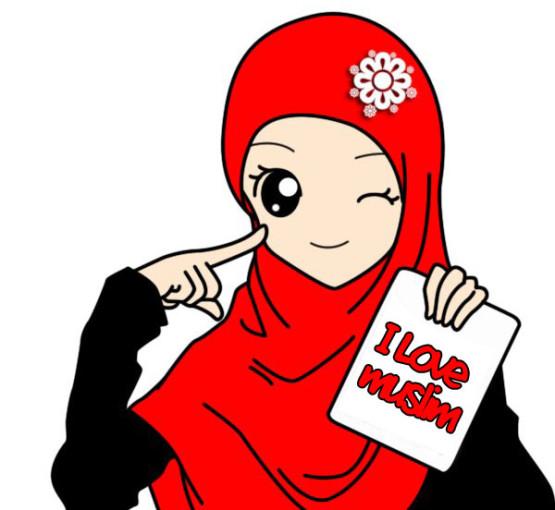 Gambar Kartun Perempuan Pakai Jilbab
