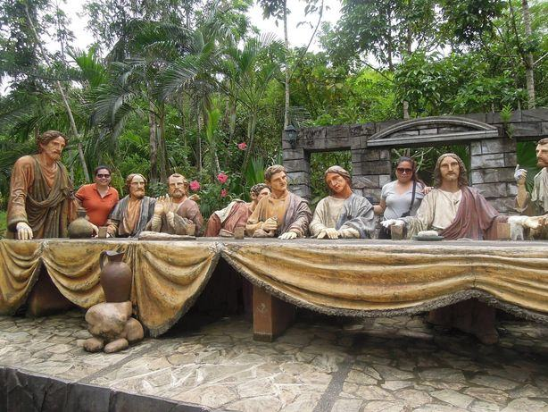 Last supper stature in Kawa Kawa Hill in Albay