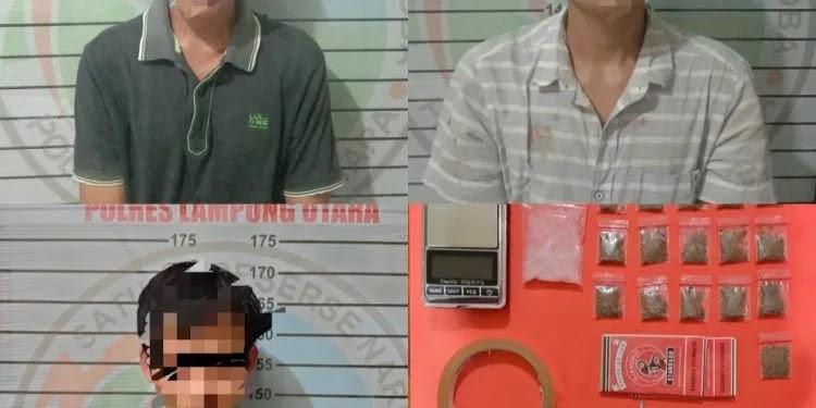 Satres Narkoba Polres Lampura Kembali Memborgol Tiga Terduga Penyalah Guna Narkoba