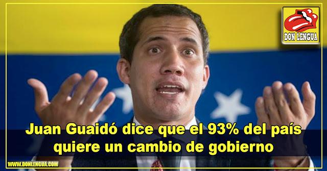 Juan Guaidó dice que el 93% del país quiere un cambio de gobierno