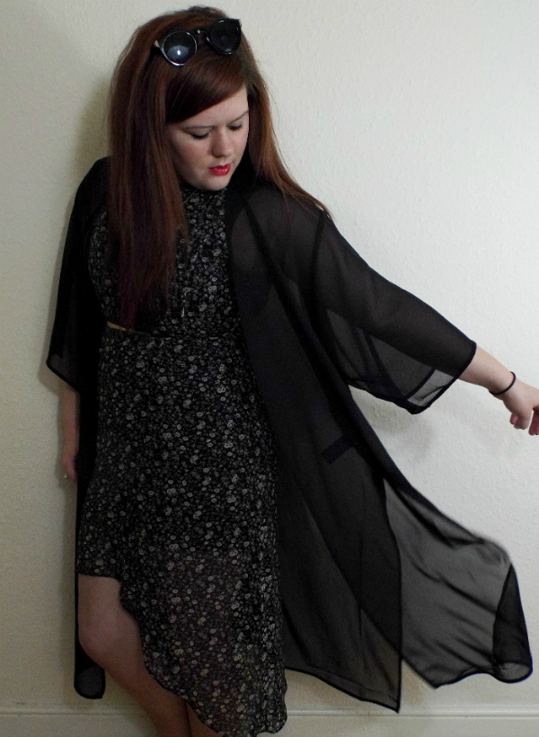 Fashion Is Our Religion, Outfit Of The Day, OOTD, WIWT, Fashion Blogger, Style Post, Outfit Post, H&M longline Kimono, Warehouse Asymmetric Floral Dress, Tanya Burr Lips and Nails