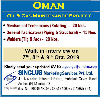 Oil and gas Maintenance Project