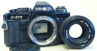 Minolta X-570 (Black) Body #266, Minolta MD 50mm 1:1.7 #010