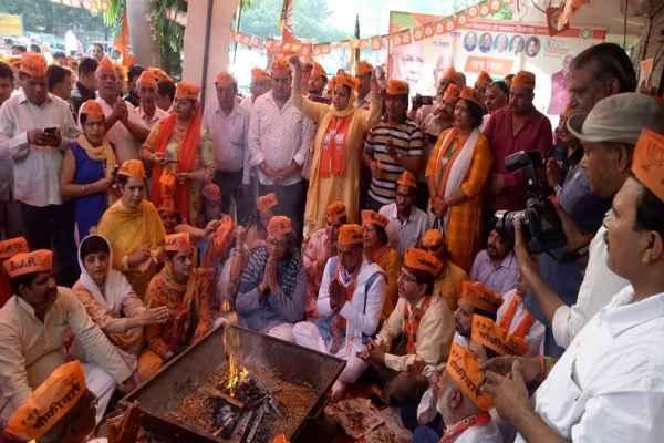 bjp-open-party-office-in-badkhal-vidhansbaha-krishan-pal-gurjar