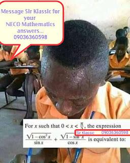 Neco 2021 mathematics