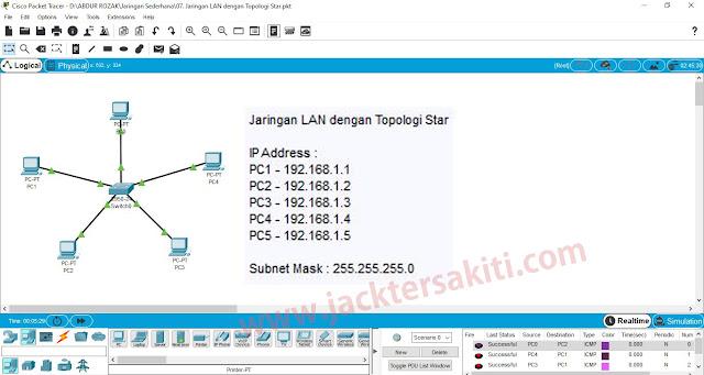 Cara Membuat Topologi Star di Cisco Packet Tracer