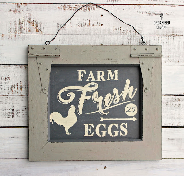 Thrift Shop Purchase Upcycled as Farmhouse Decor www.organizedclutter.net