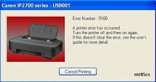 Error 5100 Printer Canon iP2770