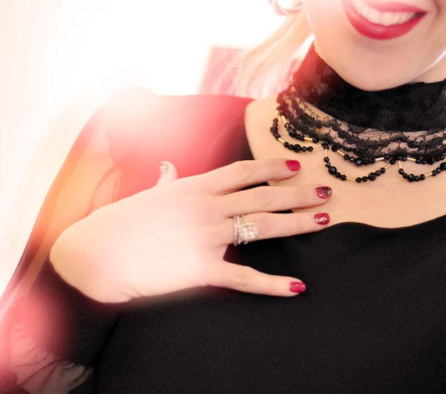 lace and ribbon choker
