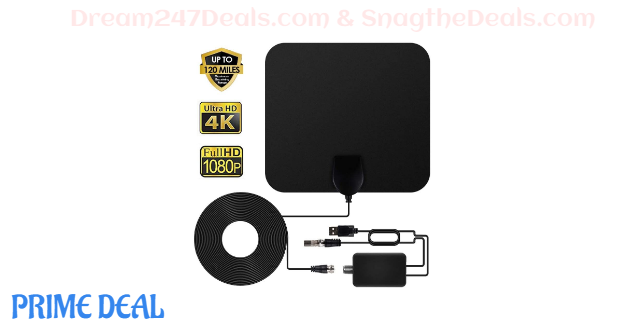50%OFF Innoo Tech TV Antenna - SAVE $100 EVERY MONTH - HDTV Antenna Indoor Antenna Support 4K 1080P, 60-120 Miles Range Digital Antenna