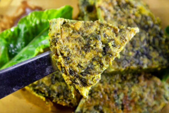 Tortilla de acelga saludable al horno