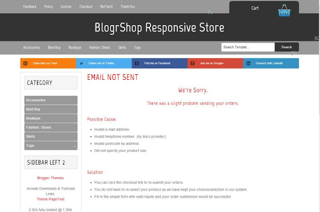 custom social bookmark BlogrShop responsive Blogger store
