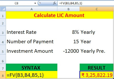 How to Calculate Future Value of Monthly and Yearly Investment in Excel