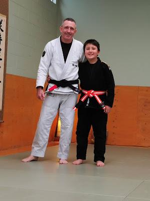 Professor Adam Evans and Aidan Evans Auckland Kid BJJ