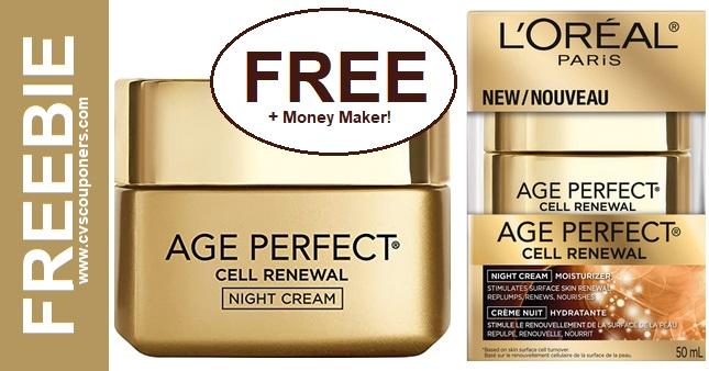 FREE L'Oreal Cell Renewal Night Cream at CVS